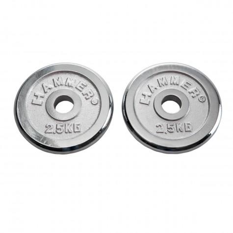 HAMMER Gewichtsscheiben 2x 2,5 kg, chrom